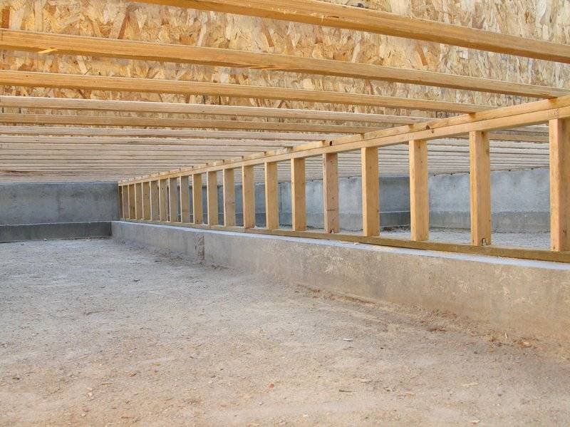 photo of a house kit's crawl space foundation