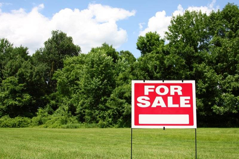 photo of empty grass lot with for sale sign