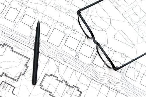new home property survey drawings